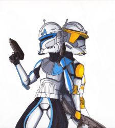 Captain Rex and Commander Cody by EnsignKlutz