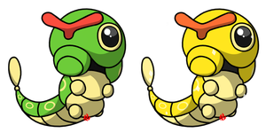 Pokemon #010 - Caterpie by Fyreglyphs