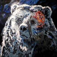 Blue Bear by oreillyfinearts