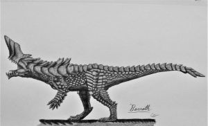 Monster Hunter 3: Barroth by AcroSauroTaurus