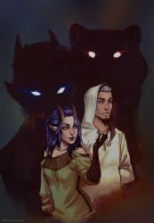 Inis and Khan by Nikranel