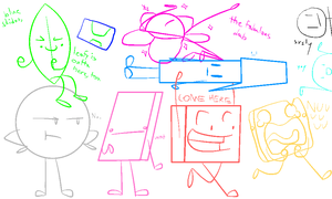 TEAM NOT ATTENDING IN BFDI (A) by SomeMiiGunner