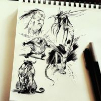 Ink Fueled Creatures by COLOR-REAPER