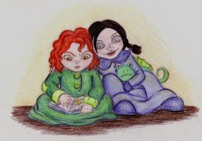 Nica and Charlot by lafeeclofette