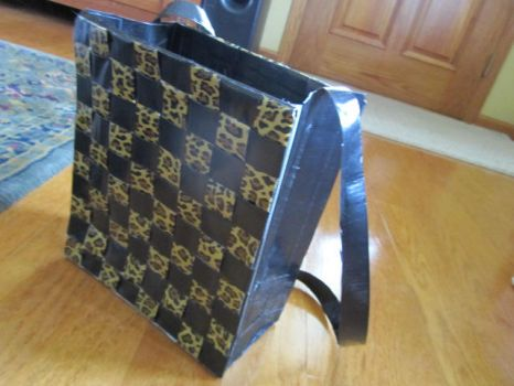 Duct Tape Leopard Bag by SharpieObsessed