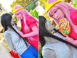 Marceline and Bubblegum from Adventure Time by LauzLanille