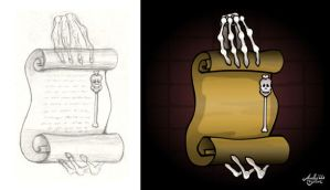 Skeleton Scroll by Art-by-Andy
