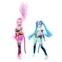 Luka and Miku Boxart Tda Append Style by MeerkatQueen