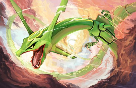 Rayquaza by CrowParty