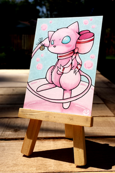 +Mew ACEO - Pokemon+ by madhouse-arts