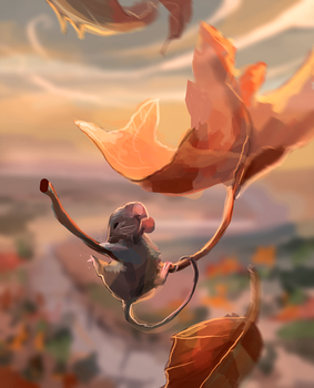 autumn skydiver by Yunipar