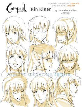 Rin Kinen- Face expression sheet by zkoyllar