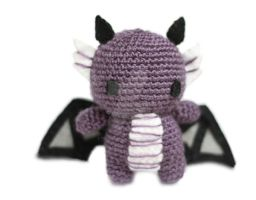 Purple Baby Dragon Yay by tinyowlknits