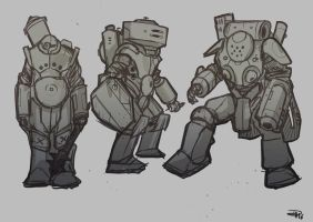 Mecha Armor Concepts  2016 by DenisM79