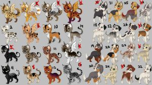 ~Free~ 32 Dogs and Cats ~Closed~ by Trinkenki