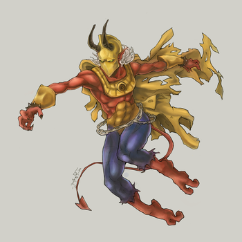 Dr. Fate + Kid Devil by JomanMercado