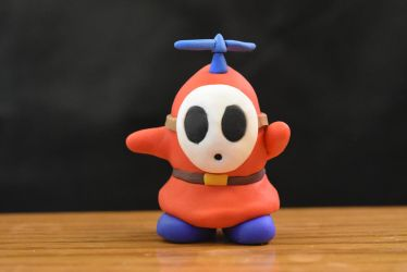 Shy Guy / Fly Guy - Polymer Clay by kerobyx