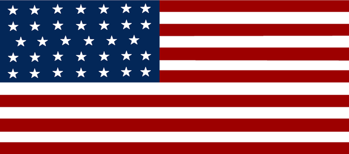 United States flag - Civil War by Politicalflags