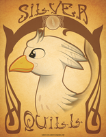 mlp-silver-quill-art-Nouveau card by Samoht-Lion