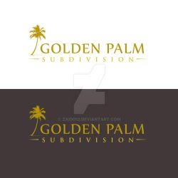 Golden Palm Subdivision Proposed logo3 by zaido12