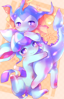 Glaceon x Vaporeon by D685ab7f-pis