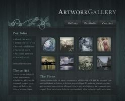 art gallery Flash website by F05310019