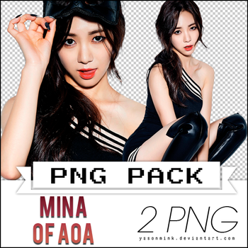 Renders' pack with Mina of AOA ('Like A Cat') by yasonmink