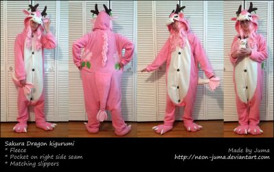 Sakura Dragon kigurumi by Neon-Juma