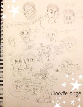Doodle page by honeyy-bee