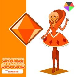 Orange Diamond by LadyHeinstein