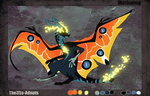 Mothwing Dragon Auction (CLOSED) by The3Ss-Adopts