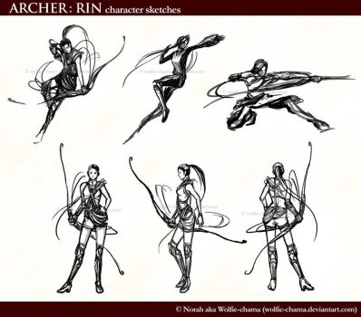 Archer: Rin Concepts by Wolfie-chama