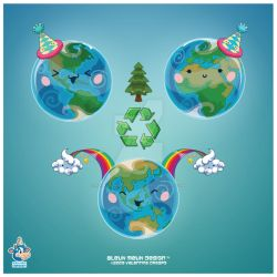 Happy Kawaii Earth Day 2009 by KawaiiUniverseStudio