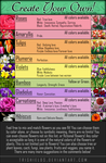 Create Your Own - Flower Chart by Trishields