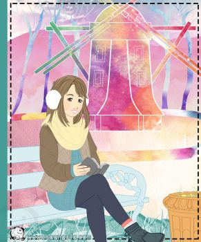 Girl reading by electra-gretchen