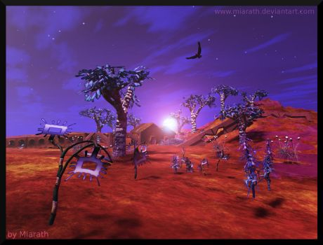 Far Away Places - The Valley of the Clovertrees II by Miarath