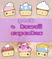 Kawaii cupcake png PACK by TrubuteOfDistrict13