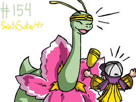 #154 Meganium by SaintsSister47