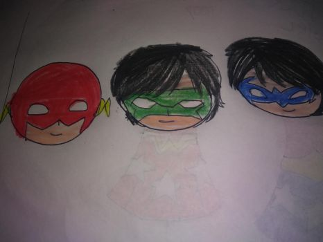 The Flash, Green Lantern and Nightwing by CamiloSama