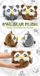 Owl Bear Plush Sewing Pattern by SewDesuNe