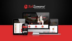 Red Samurai PSD Template by odindesign