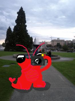 Baby Shrimpzilla goes to VIctoria,Canada by rattyinspace