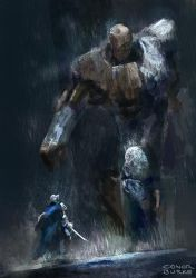 Wood and stone golem by conorburkeart