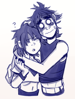 Noodle and 2d by japes8