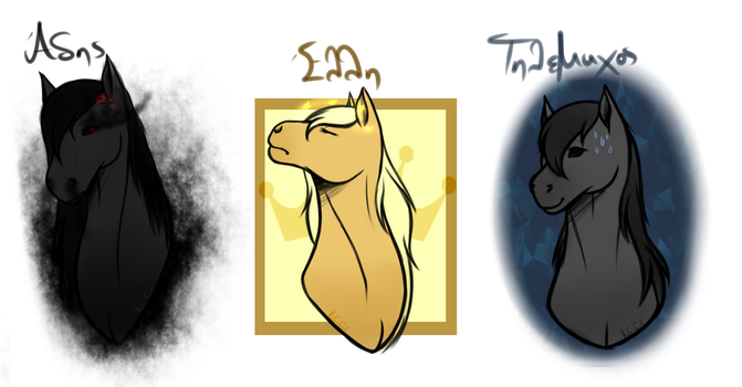 Horsie OC's~ by Knife-Girl