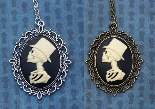 Gentleman Skeleton Necklace by MonsterBrandCrafts