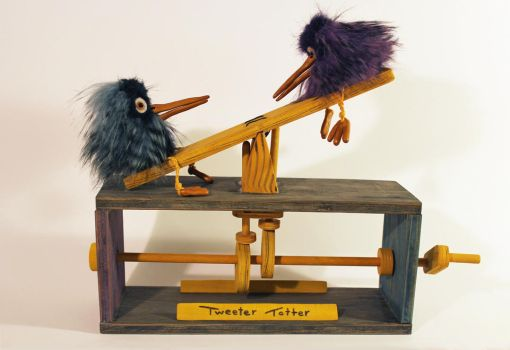 Tweeter Totter Automaton + VIDEO by MadeleiZoo