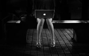 Mac Book with Strap Shoes by dummyfactory