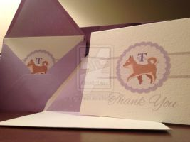 Shiba thank you cards by evikted