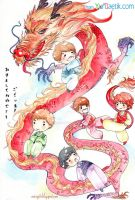 up to the peak with Dragon boys by ThuyAn